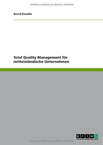Total Quality Management für mittelständische Unternehmen German Edition  ebook by Bernd Staudte