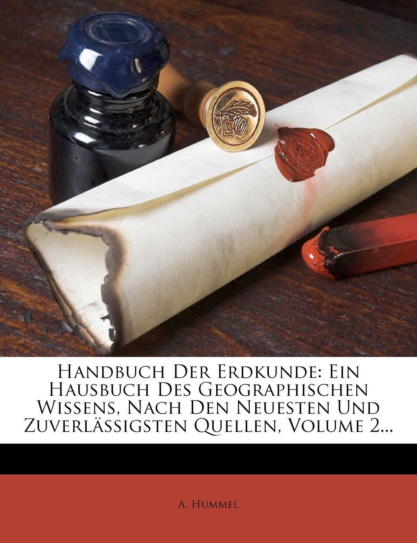Handbuch der Erdkunde Zweiter Band  German Edition  ebook by A. Hummel
